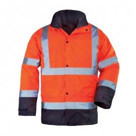 RODWAY reflexný kabát 4v1 oranžovo/modrý  7ROPO kabát/vetrovka