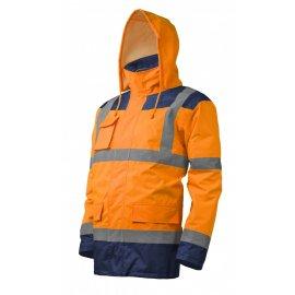 KATANA reflexný kabát 4v1 oranžovo/modrý  7KANO kapucňa
