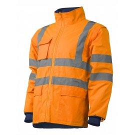 KATANA reflexný kabát 4v1 oranžovo/modrý  7KANO bunda