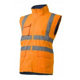 KATANA reflexný kabát 4v1 oranžovo/modrý  7KANO vesta