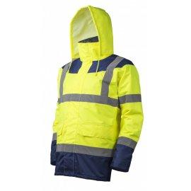 KETA reflexný kabát žlto/modrý  7KETY kapucňa