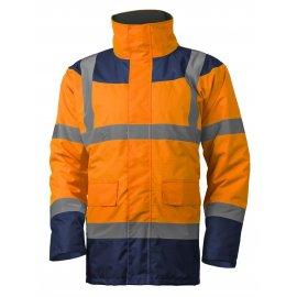 KETA reflexný kabát oranžovo/modrý  7KETO