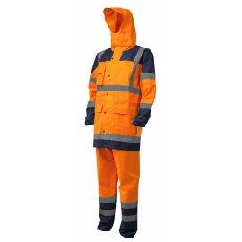 HI-WAY reflexná nepremokavá súprava oranžová  7HYDO  špecialná kapucňa