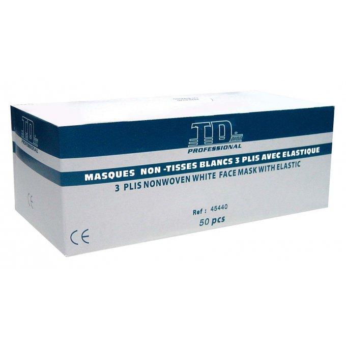 Rúško trojvrstvové lekárske biele  45440