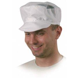 Čiapka biela textilná sieťka  45631