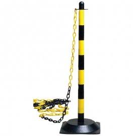 Plastový stĺpik s podstavcom žlto/čierný  70070
