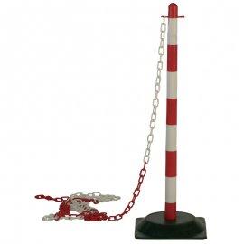 Plastový stĺpik s podstavcom červeno/biely  70060