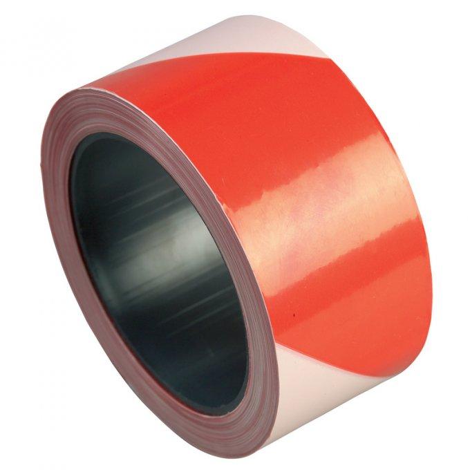 Výstražná páska červeno/biela 5cm  70010