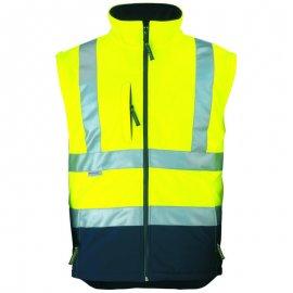 STATION Softshell® bunda 2v1 žlto/modrá  70629-34  vesta