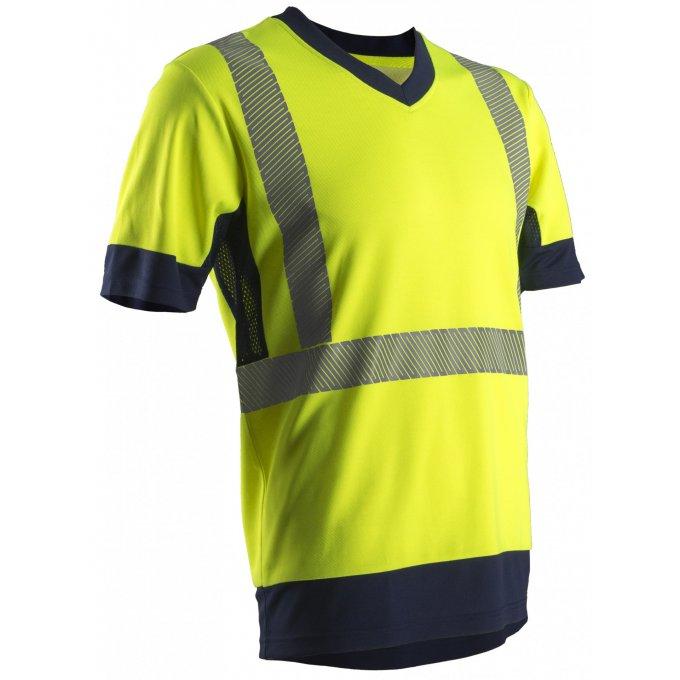 KOMA reflexné tričko žlté  7KOMY