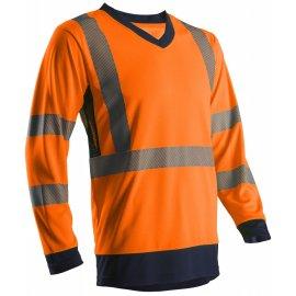 SUNA reflexné tričko dlhý rukáv oranžové 7SUNO