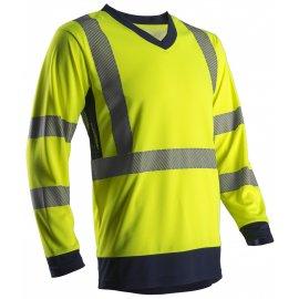 SUNA reflexné tričko dlhý rukáv žlté  7SUNY