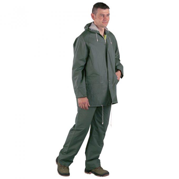 Nepremokavý PVC oblek zelený  50200-204