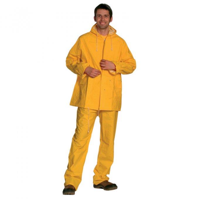 Nepremokavý PVC oblek žltý  50210-214