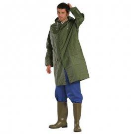 Krátky nepremokavý PVC pášť zelený  50400-404