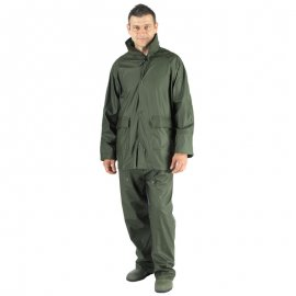 Nepremokavý PU oblek zelený  50800-804
