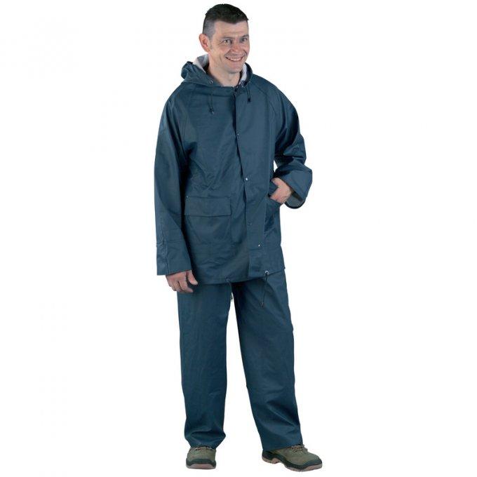 Nepremokavý PU oblek modrý  50820-824